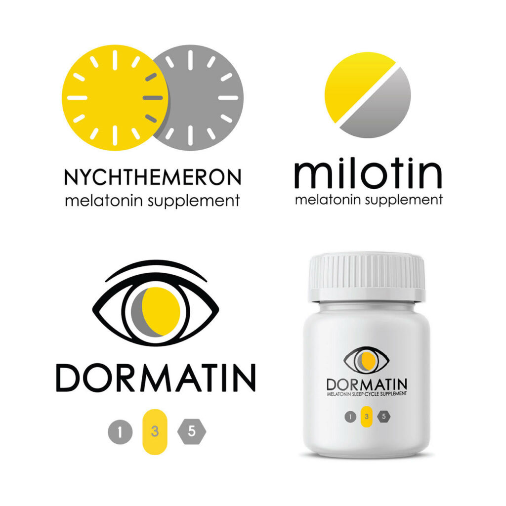 Logo design options for pharma company